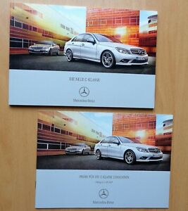 1796-Prospekt-brochure-Mercedes-C-Klasse-2007-Preisliste-Limousine-Prices