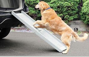 Pet Ramp For Car >> LIGHTWEIGHT DOG RAMP ANTI SLIP SAFETY FOLDING PORTABLE PET