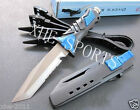 Scuba Diving Camping Hunting Fishing High Quality Dive Knife Blue Tanto Stainles