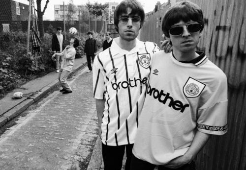 OASIS POSTER Manchester City Noel /& Liam Gallagher Photo Print Poster