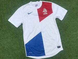 White NIKE Holland NETHERLANDS 2013 AWAY FOOTBALL Shirt (S) *NICE COND*