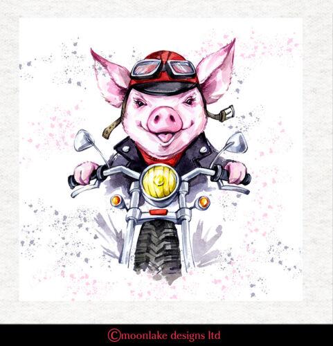 cerdo Tapicería De Tela Cojín-Moto Arte Artesanía Panel de acolchar Cerdo