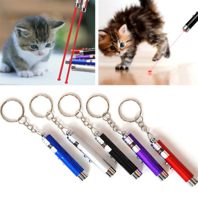 Newest Pet Supplies 2 In 1 Red Laser Pointer Pen Funny LED Light Pet Cat Toys