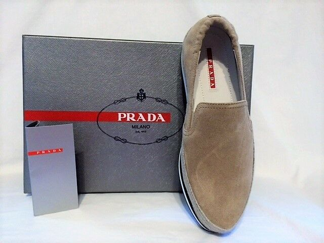 NEW Prada Women's Calzature women Scamosciato Desert Loafers Loafers Loafers Sz 8  (38) 7a0fc0