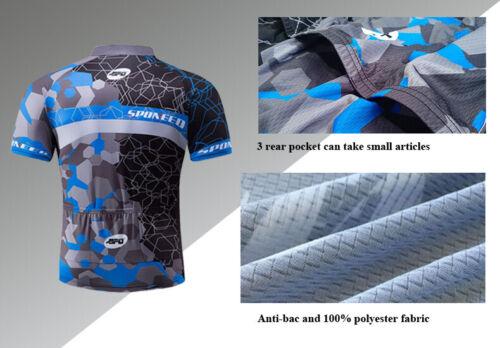 Men Bike Shirt Road Cycling Jersey Short Sleeve MTB Sportswear Pro Biker Wear