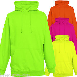 sweat a capuche fluo homme