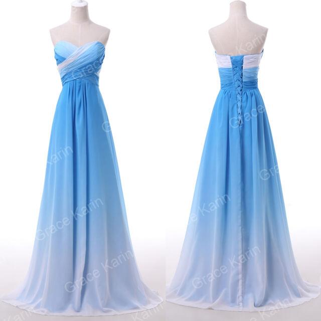 SUMMER/WINTER Stunning Gradient Evening Party Prom Show Wedding Gowns Dress Long