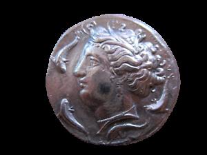 Grecque-Antique-Sicile-Syracuse-Tetradrachme-Reamorcage
