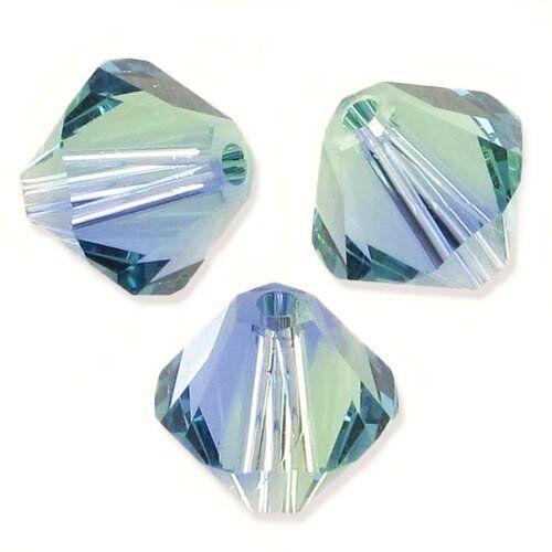 CHRYSOLITE BLEND XILION 10 Perles Toupies 6mm  Swarovski PROVENCE LAVENDER