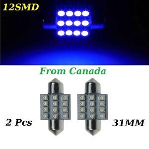 2x-31mm-12SMD-Blue-LED-3528-DE3175-DE3022-Dome-Car-Light-Lamp-Bulb-12V-DC