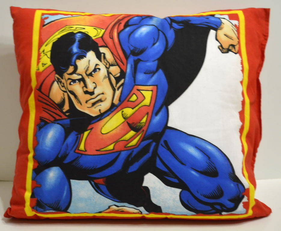 SUPERMAN  w SHIELD LOGO 15  x 17  Cloth PILLOW DC Comics
