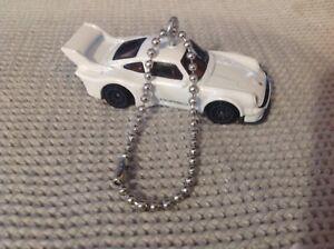 Hot Wheels white Porsche 934.5 Christmas Ornament Keychain or Zipper Pull