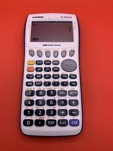 Casio fx-9750GII Blue and White Graphing Calculator  TESTED No Cover