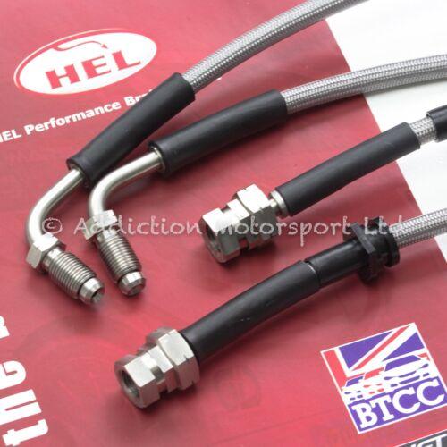 Pro Braking PBK9361-TBL-SIL Front//Rear Braided Brake Line Transparent Blue Hose /& Stainless Banjos