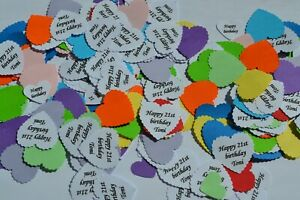 Names PERSONALISED TABLE CONFETTI ANY Celebration Date message incl.