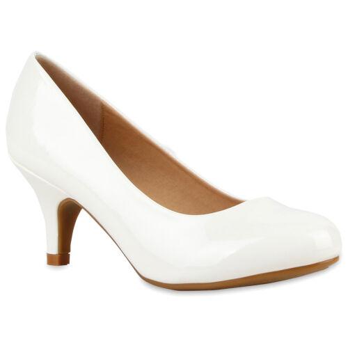 Damen Abiball Pumps Lack Stilettos Abendschuhe Brautschuhe 79093 Hochzeit Schuhe