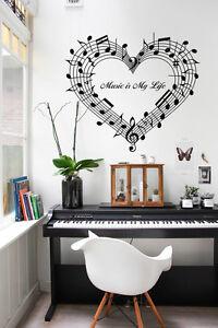 Details Sur 45 Notes De Musique Autocollant Mural Vinyle Amour Art Decoration Chambre Haute Quiality Afficher Le Titre D Origine