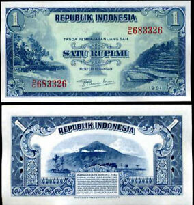 2 1//2 Indonesia 2.5 1968 A-UNC Rupiah P-103