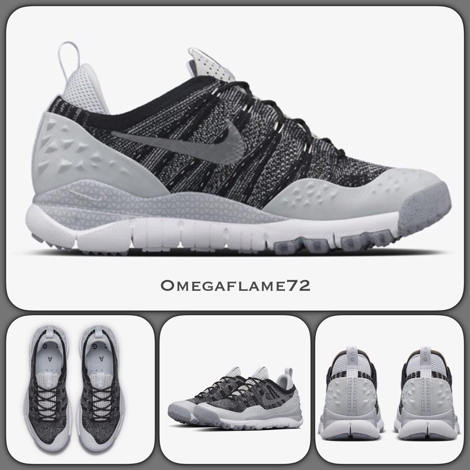 Nike Lupinek Flyknit ACG Low 853954-002 USA 10, Black Platinum