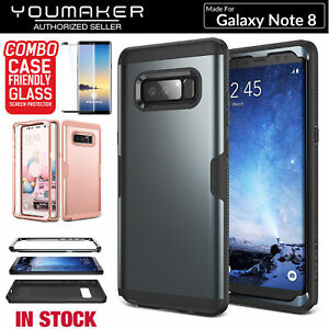 sale retailer 8f2e7 eb6b0 Details about YOUMAKER® Samsung Galaxy Note 8 HEAVY DUTY Shockproof  KickStand Case Cover