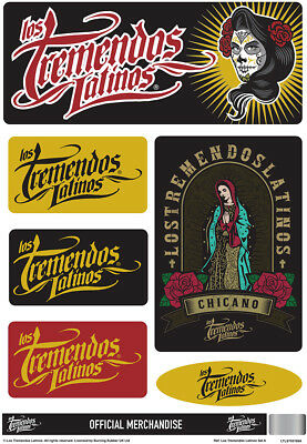 2019 Moda Los Tremendos Latinos Set Adesivi Merchandising Ufficiale Custom Auto Moto Acquisto Speciale
