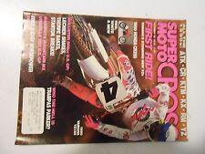 OCTOBER 1989 SUPER MOTOCROSS MAGAZINE,90S ATK,CR,KTM,KX,RM,YZ,HONDA CR250,PARKER