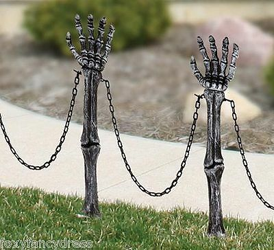 Skeleton Hand LAWN STAKES Horror Halloween Fancy Dress Party Prop Decoration