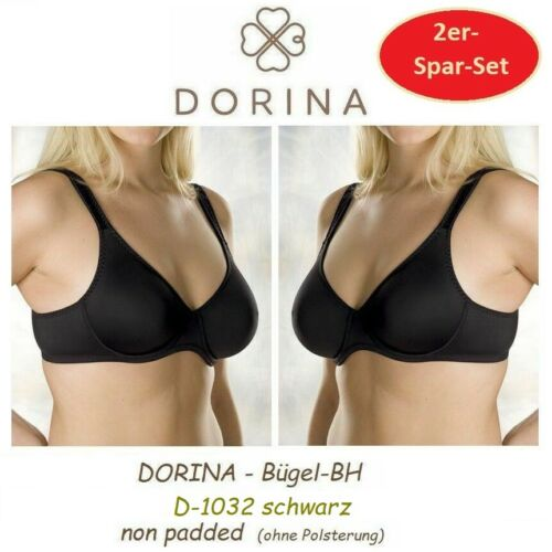 2er-Spar-SET DORINA D-1032 Lindsay T-Shirt-BH Formbügel breite Träger 4 Farben