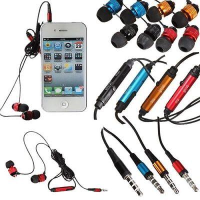 Earphones With Mic Metal Noise Isolating Headphone Mobile Mp3 Ipod Ipad 3.5mm Seien Sie Im Design Neu