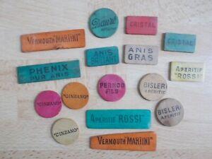 16-anciens-divers-jetons-de-cartes