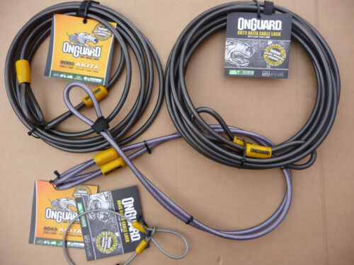 Onguard AKITA Cable EXTENDER all sizes Bicycle Motorbike Moped Home Lock Coil