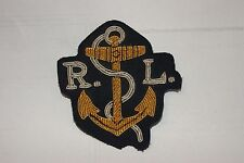 BRITISH ARMY MILITARY GOLD WIRED HAND EMBROILLED ROYAL NAVY BADGE PATCH NEW RL