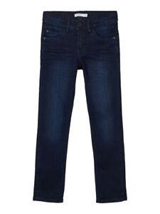 NAME IT Jungen Slim Fit Jeans Hose NITThomson dunkelblau Größe 92 bis 164
