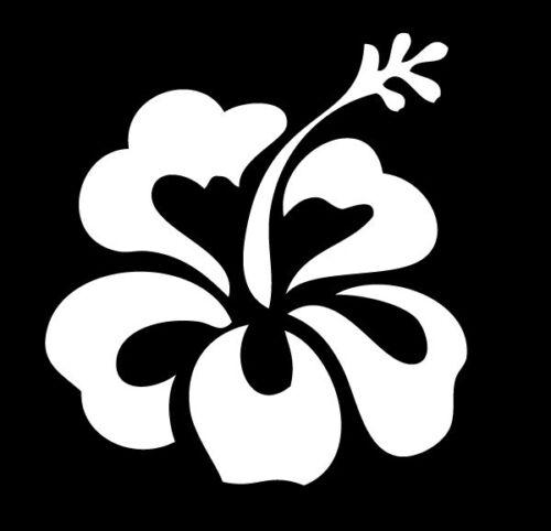 hibiscus flower hawaiian beach tropical car vinyl decal sticker