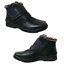 MEN-Black-Winter-Ankle-Snow-Boots-Comfort-Strap-Slip-On-Loafer-Fur-Lined-Boots thumbnail 1
