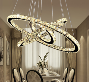 Image Is Loading Led Crystal Chandelier Lights Lamp For Living Room