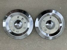 1957 1958 1959 Ford Fairlanethunderbird T Bird Dog Dish Hubcaps Set Of 2