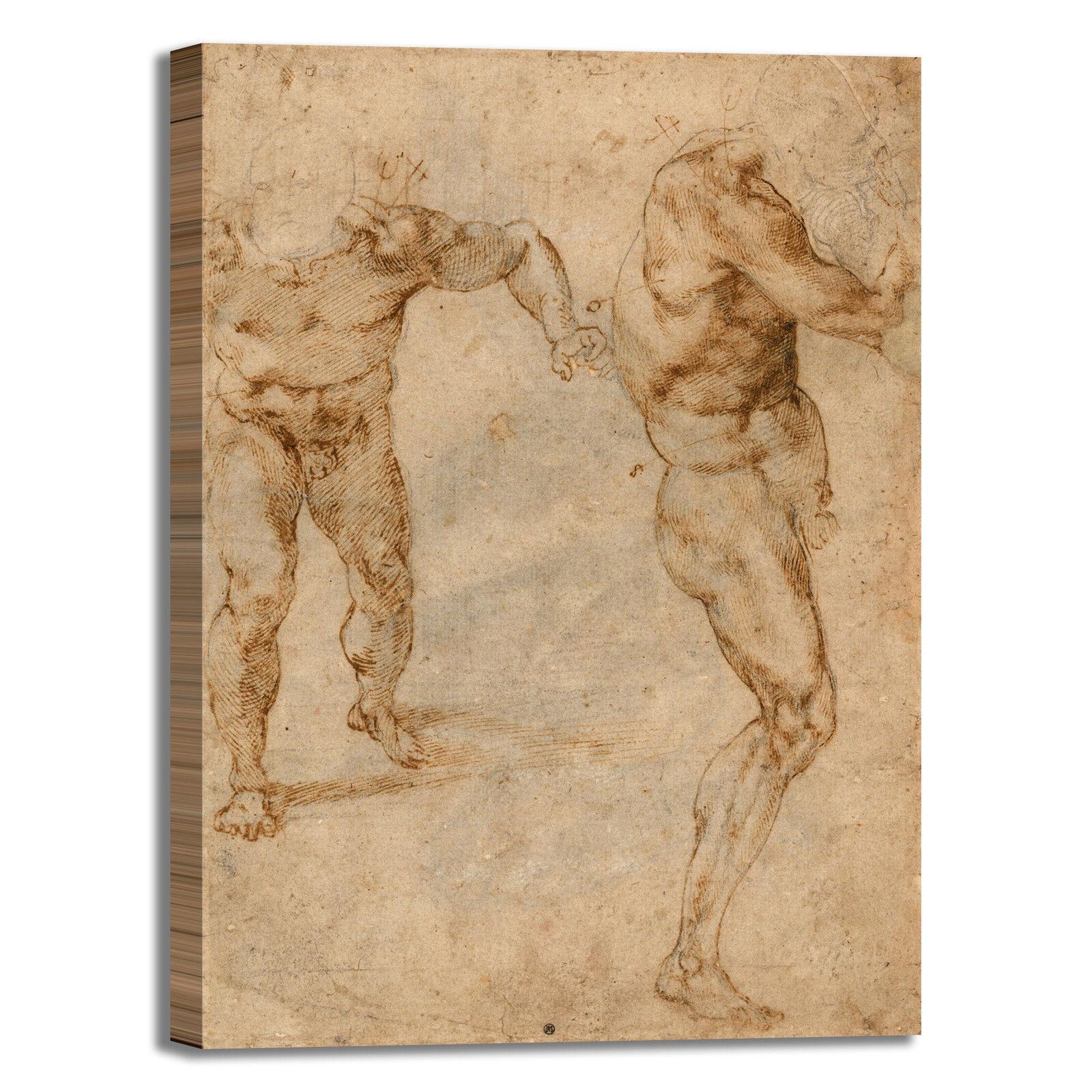 Michelangelo studi di nudo design quadro stampa tela dipinto telaio arroto casa