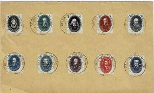 RDA MiNr 261 - 270 estampillé sur en blanc lettre-afficher le titre d`origine wFF2dcUF-07154258-550298613