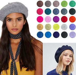 Fashion-Womens-Wool-Like-Warm-Beret-Hat-Cap-French-Style-Fashion-Hats-Quia-NEW