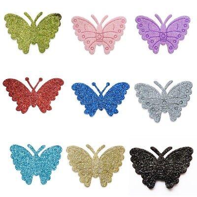 Self Adhesive Glitter Butterflies 12 Pack Wedding Favour Box Decoration Craft