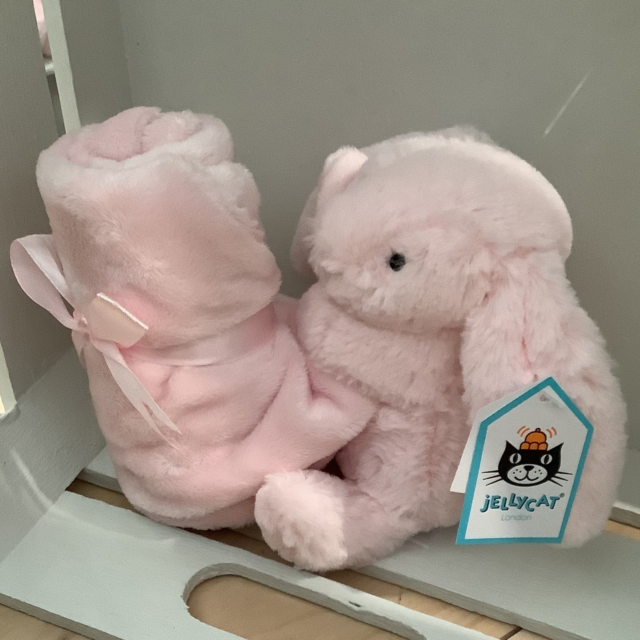 JELLYCAT PLUSH TOY BASHFUL BUNNY SOOTHER PINK - 34cm