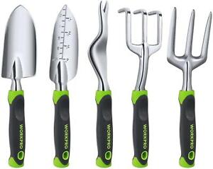 WORKPRO Garden Tool Set 5 Pieces Gardening Work Gifts Cast Aluminum Outdoor Hand