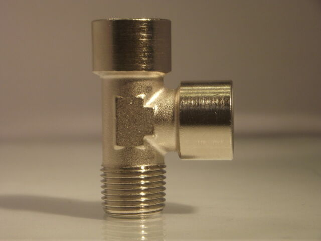 Offset Equal Tees 1/8 Bsp up to 1/2 Bsp 1x Male inlet  2 x Female ports