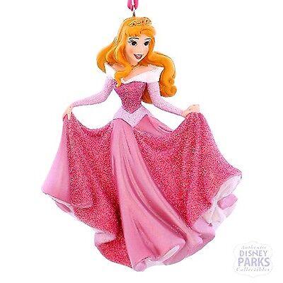Disney Parks Princess Aurora Sleeping Beauty Glitter Dress Christmas Ornament