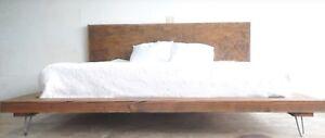 Letto Matrimoniale Artigianale.Dettagli Su Letto Matrimoniale Francese Industrial Design Artigianale 180x220 Legno Massello