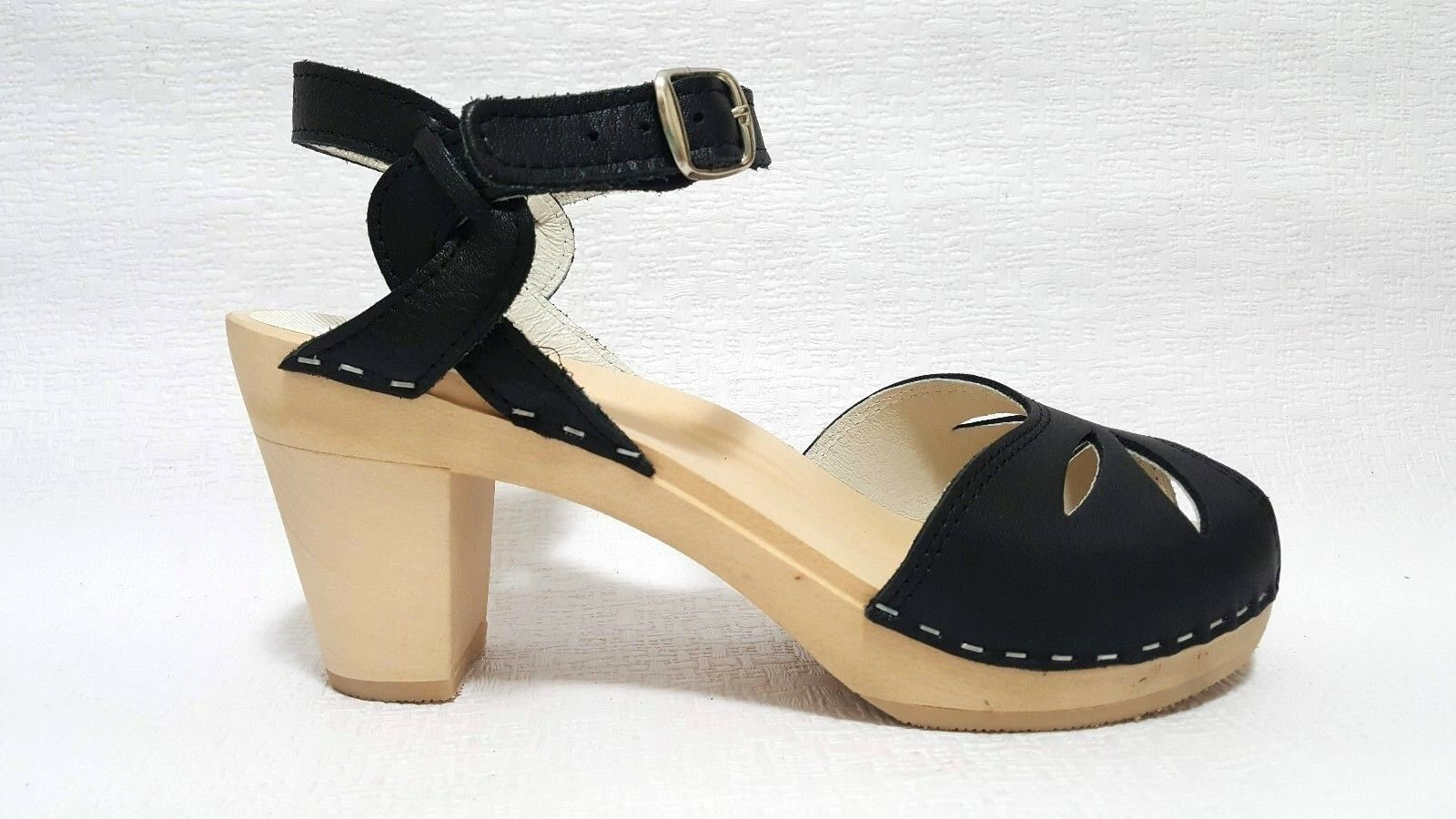 MAGUBA MAGUBA MAGUBA of SWEDEN Rio donna CLOGS WOODEN SANDALS scarpe nero Dimensione 40 acc061