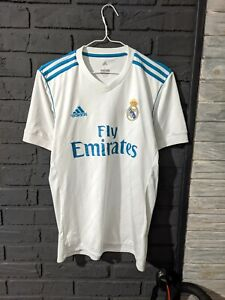 Real Madrid 2017/2018 ADIDAS Home Football Shirt Men's Size L Soccer Jersey