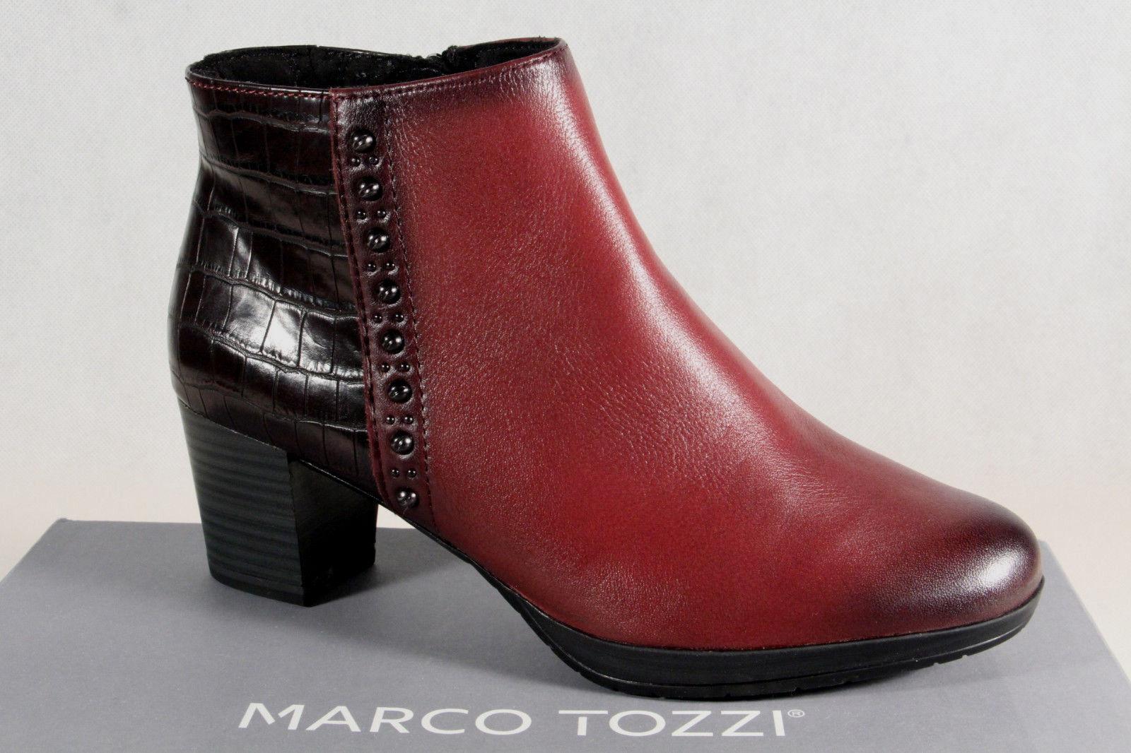 Marco Tozzi Botines Cremallera Forrado Forrado Forrado 25388 Cuero Aut. Nuevo 929503