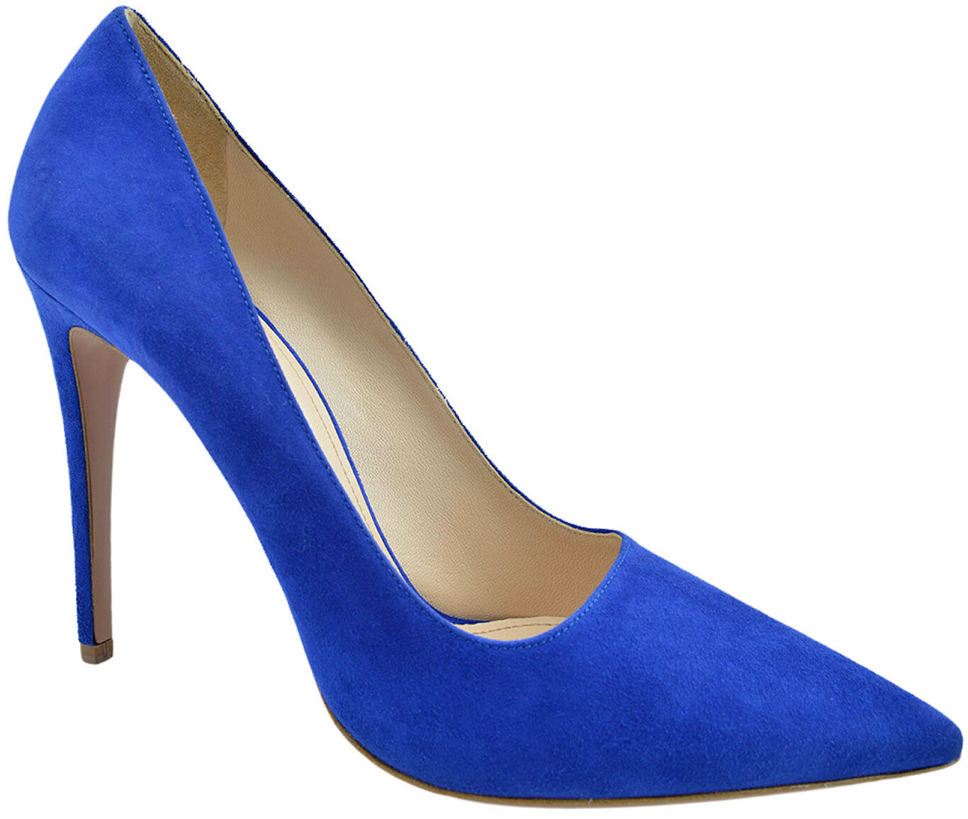 $650 PRADA Blue Suede Leather CAMOSCIO Pumps High Heels 39.5 9.5 NEW COLLECTION